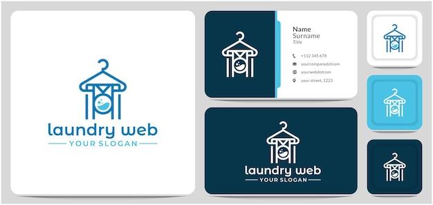 Lavadora de roupas design de logotipo de vetor máquina de lavar roupas