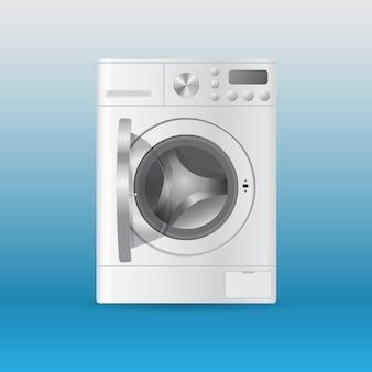 Lavadora de roupas vazia automática automática com roupas de carregamento frontal com porta aberta