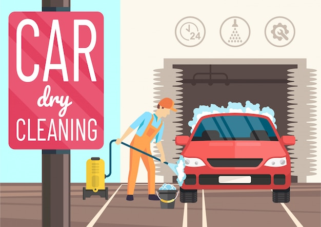Lavagem a seco de carro