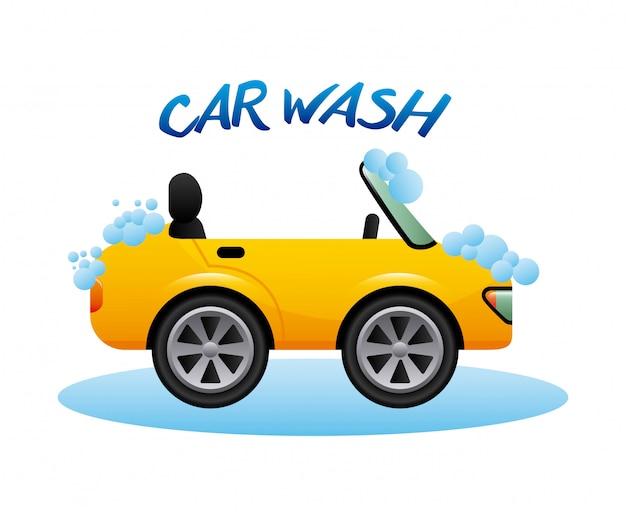 Lavagem de carro design gráfico, ilustração vetorial