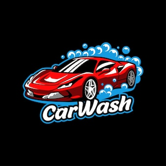 Lavagem de carros vermelho serviço de lavagem de carros lavagem de sabão limpador de espuma garagem suja