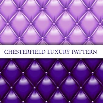 Lavanda e roxo elegante chesterfield sem costura padrão