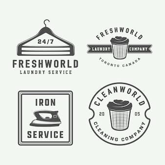 Lavanderia, logotipos de limpeza