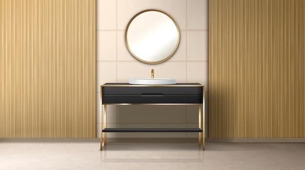 Lavatório e aquecedor de água da caldeira do banheiro