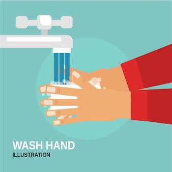Lave a mão com sabão