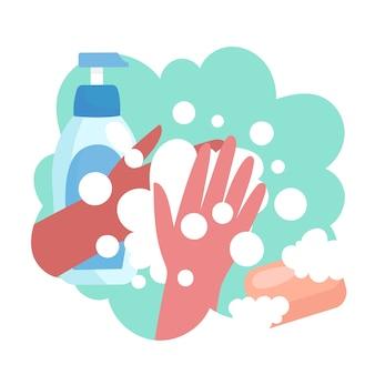 Lave as mãos com as pontas