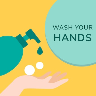 Lave as mãos, evite a publicação da covid 19 nas redes sociais