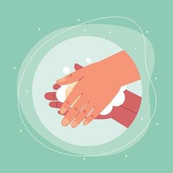 Lave as mãos
