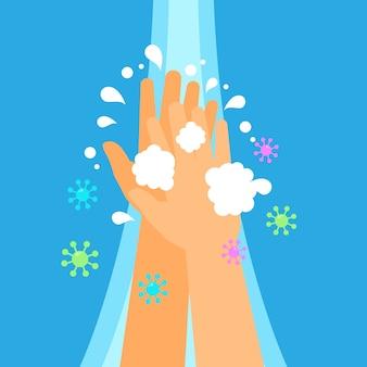 Lave sua ilustração de mãos
