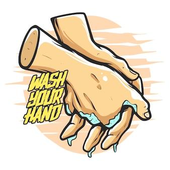 Lave sua mão premium
