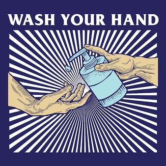 Lave sua mão