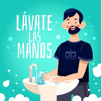 Lave suas mãos