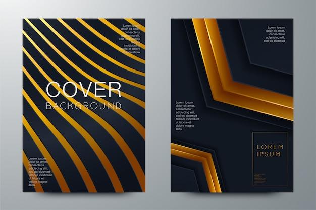 Layout abstrato de fichário. design da capa brochura branca