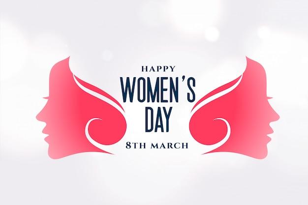 Layout atraente do dia feliz das mulheres criativas