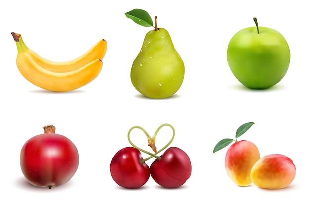 Layout criativo feito de frutas. postura plana