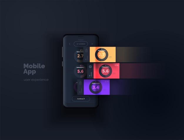 Layout de aplicativo móvel