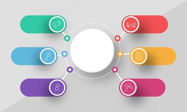 Layout de banner de inovação de infográfico de negócios