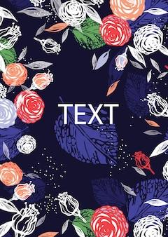 Layout de brochura. composição de flores.