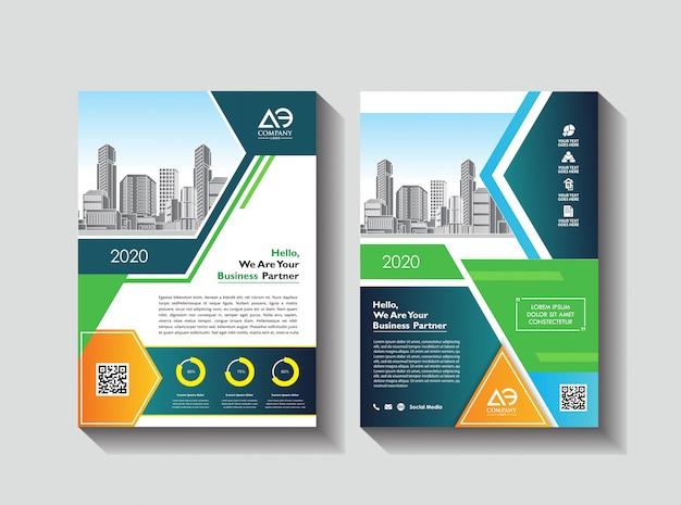 Layout de capa criativa folheto folheto de revista folheto para evento