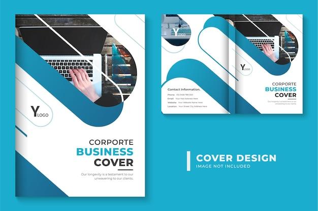 Layout de design de capa de brochura corporativa profissional design de capa de livro de negócios abstrato
