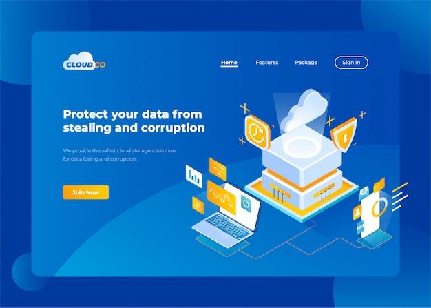 Layout de design do site para empresas