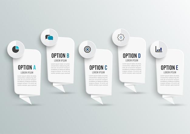 Layout de design e fluxo de trabalho de infográfico.