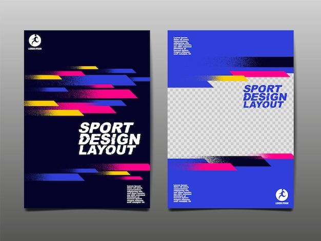Layout de design esportivo