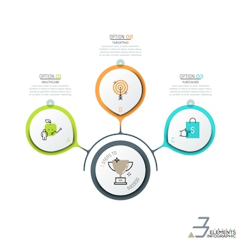 Layout de design infográfico