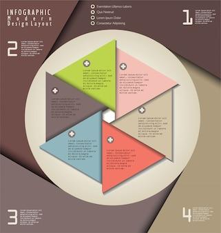 Layout de design moderno