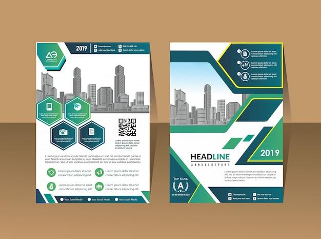 Layout de folheto de capa de negócios
