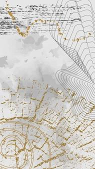 Layout de folheto de conceito criativo com anéis de crescimento de árvores.