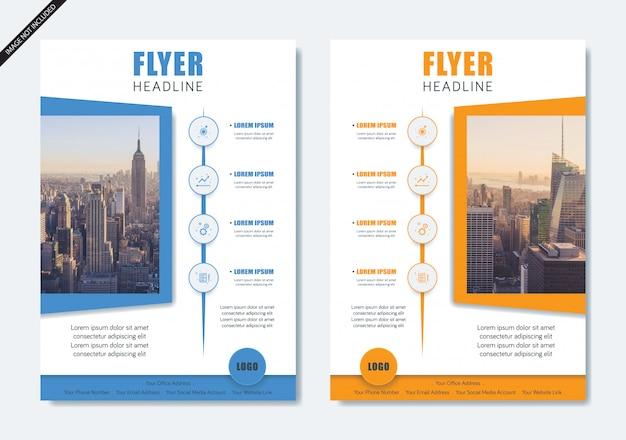 Layout de folheto moderno minimalista panfleto