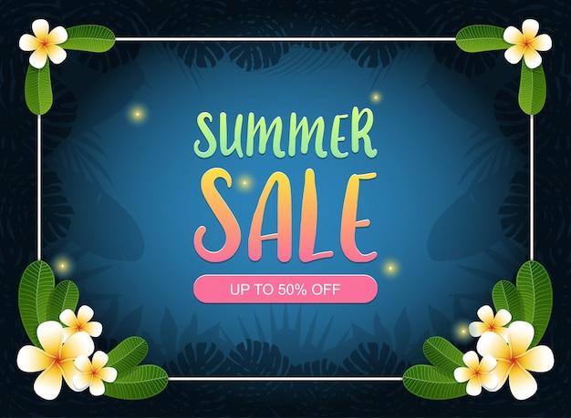 Layout de fundo de banner de venda de verão