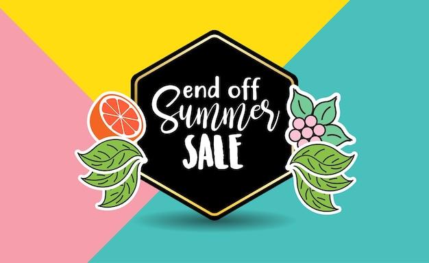Layout de fundo de venda de verão para banners.