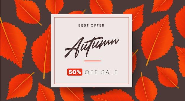 Layout de fundo outono decorar com folhas