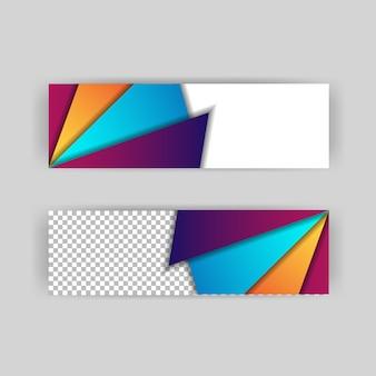 Layout de fundo papercut de cabeçalhos e banner
