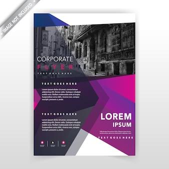 Layout de ilustração do folheto de negócios