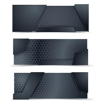 Layout de layout metálico e carbono.