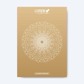 Layout de livro de design de negócios, ciência e tecnologia