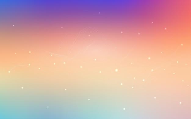 Layout de luz multicolor vector com formas de círculo
