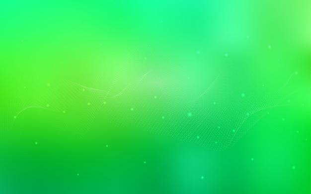 Layout de luz verde vetor com formas de círculo