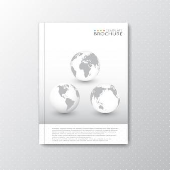 Layout de modelo abstrato moderno para brochura, revista, folheto, livreto, capa ou relatório em ilustração a4