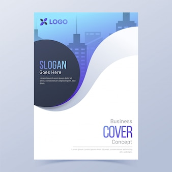 Layout de modelo de capa de negócios para o setor corporativo.