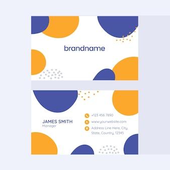 Layout de modelo de cartão de visita abstrato na frente e no verso.