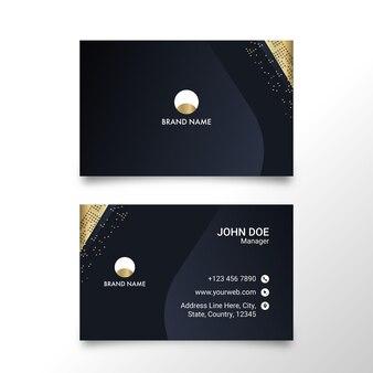 Layout de modelo de cartões de visita moderno com dupla face.