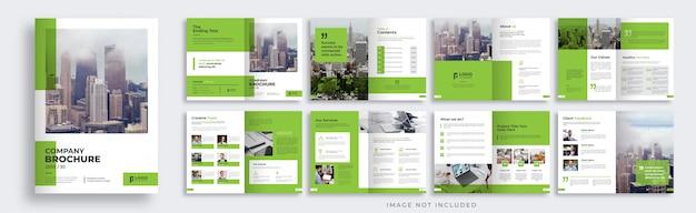 Layout de modelo de folheto com várias páginas