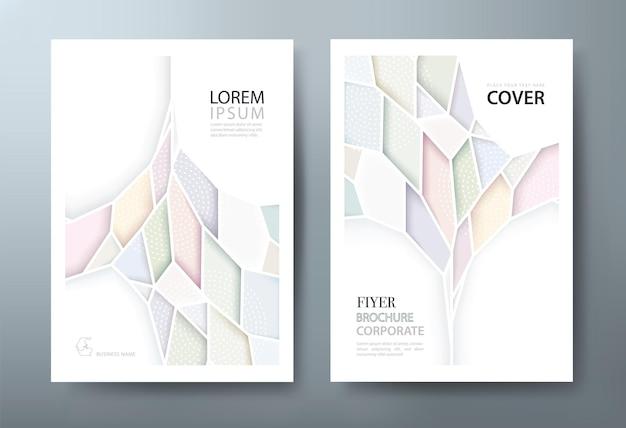 Layout de modelo de folheto de capa de livro abstrato em tamanho a4