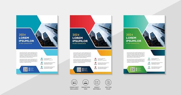 Layout de modelo de folheto de negócios