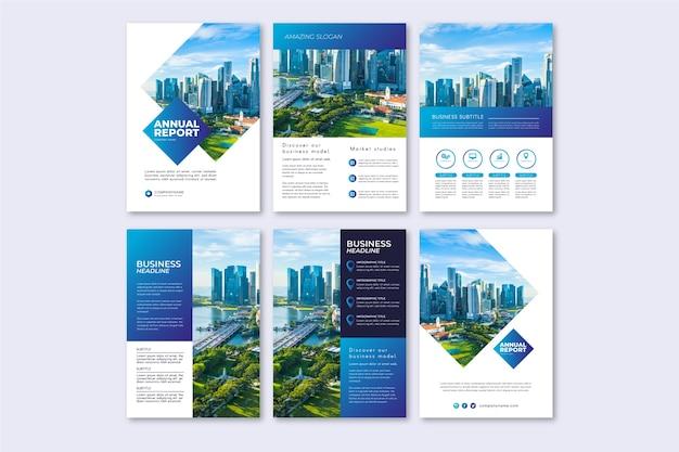 Layout de modelo de folheto para relatório anual