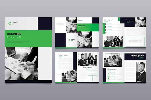Layout de modelo de negócios de brochura